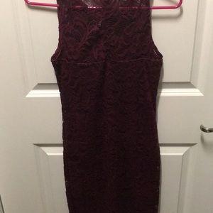Dresses - Burgundy lace dress
